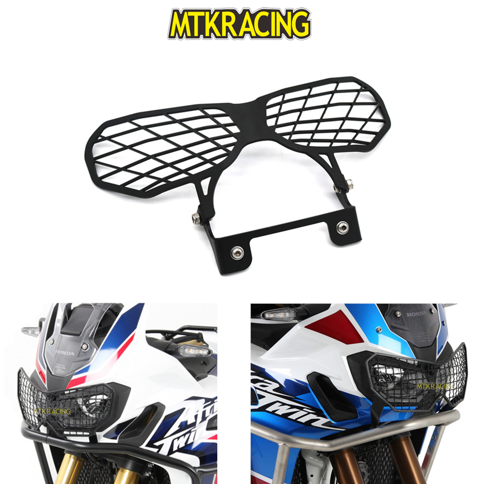 MTKRACING For Honda CRF1000L CRF 1000L CRF1000 L Africa Twin Motorcycle modification Headlight Grille Guard Cover Protector motorcycle rearview mirror motorbike rear view mirrors universal motocross for honda crf1000l crf 1000l africa twin 2015 2017