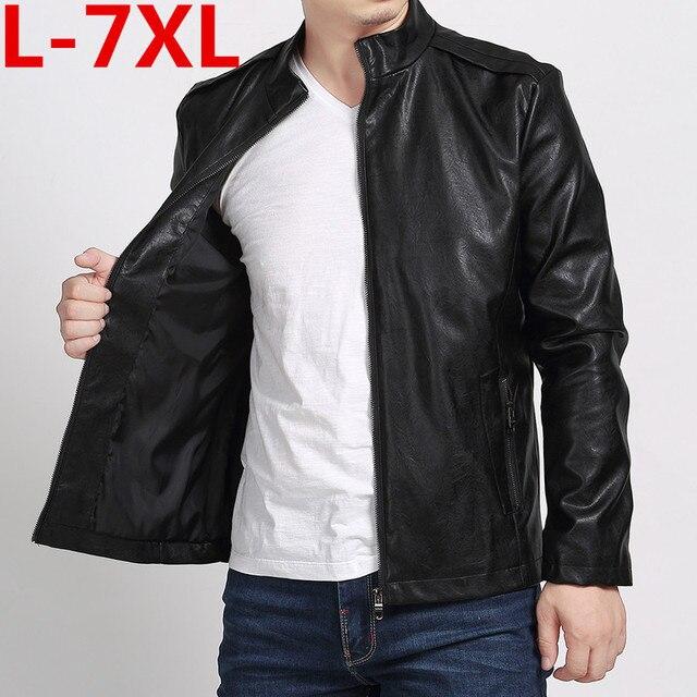 buy popular 094b4 0ea62 US $102.6 5% di SCONTO|Più il formato 7XL 6XL 5XL 4XL nuovo giacca di  pelle, Cuoio Genuino, Pelle di Pecora, moto uomo cappotto, giacca in pelle  da ...