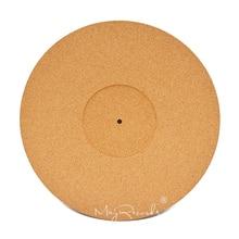 3 ミリメートルコルク LP スリップマット 3 ミリメートル帯電防止厚み 12 インチ LP ビニールレコードのためのスリップマット