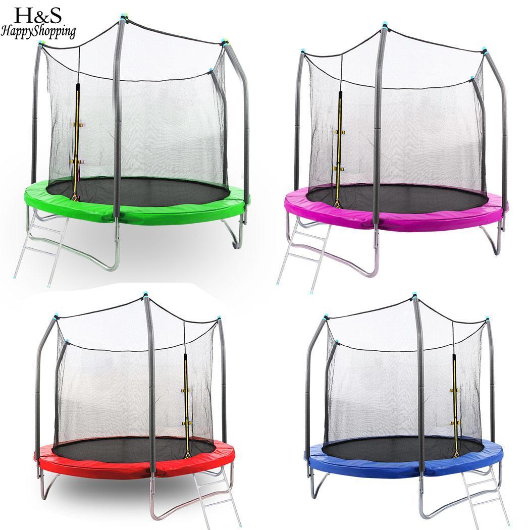 Patio Patio Trampoline basket-ball avec 12FT etc aire de jeux Set cerceau basket-ball coffre-fort enfants cerceau aire de jeux