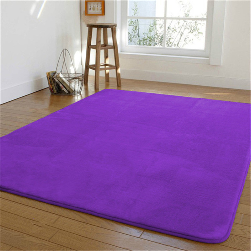 Free shipping 100 x200cm thick coral fleece carpet living room coffee table blanket room bed mat sofa bed carpet floor rug