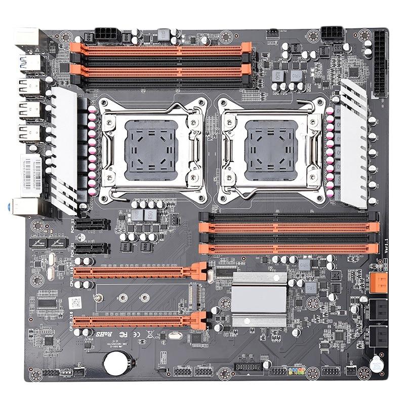 Lga2011 X79 Dual Cpu Motherboard Suporte Para Dual Intel E5 2689 2670 Ddr3 1333/1600/1866 Mhz 256Gb M.2 nvme Sata3 Usb3.0 E-Em