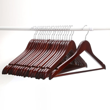 [Free Shipping] High Quality Wine Red Wooden Hanger  for Suits (10 pieces/ lot)