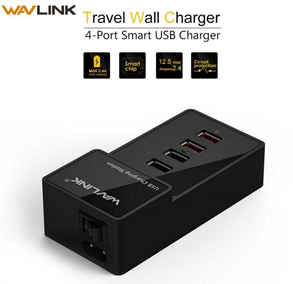 Port USB de 4 porturi de perete încărcător USB 3.0 stație de încărcare cu adaptor de alimentare 2Fast port de încărcare 38W Hub USB 3.0 pentru telefonul mobil PC
