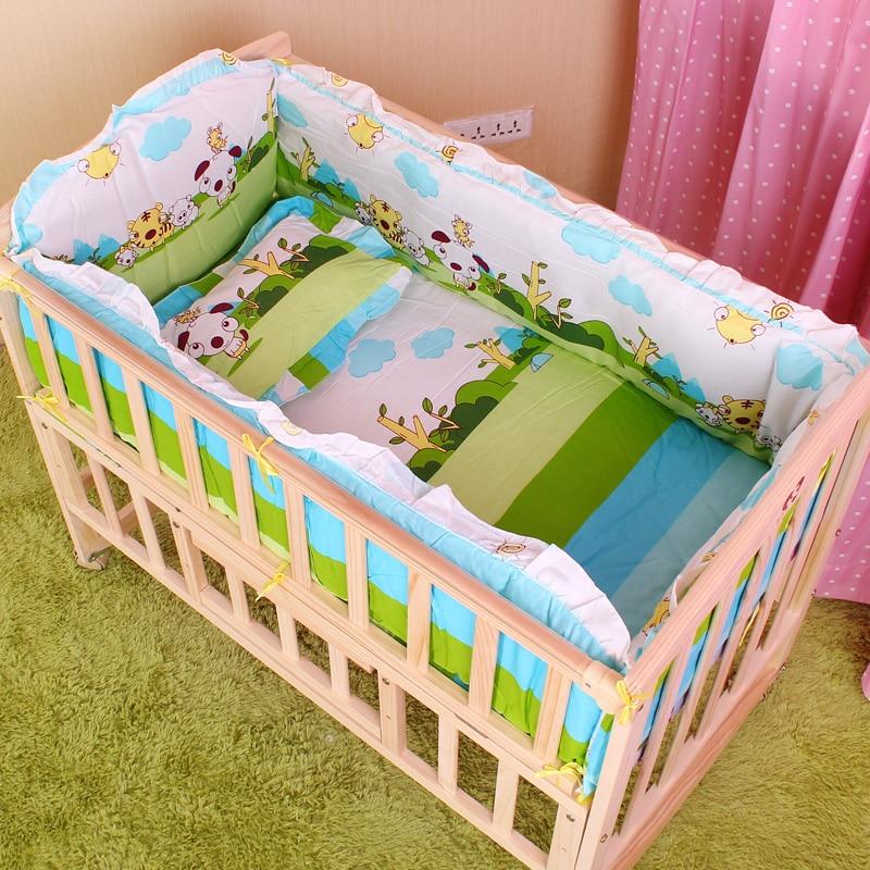 5PCS Newborn Baby Crib Bedding Set For Girl Boy Baby Crib ...