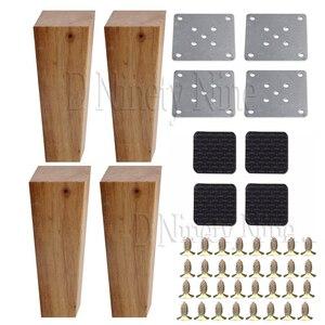 Image 1 - 150 × 58 × 38 ミリメートル木製家具キャビネット脚直角台形足リフター交換ソファーテーブルベッド 4 のセット