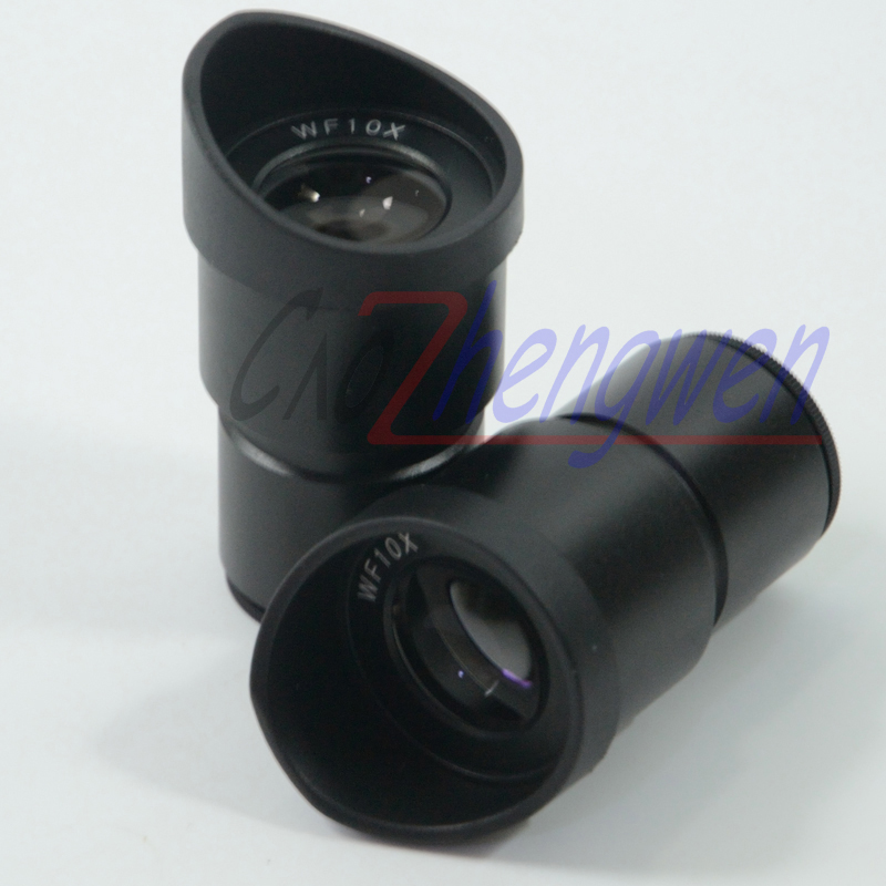 FYSCOPE New Pair widefield WF10X Microscope Eyepieces ACHROMATISM 30MM with eyeguard wide angle lens цена