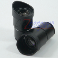 Free Shipping New Pair Widefield WF10X Microscope Eyepieces ACHROMATISM 30MM With Eyeguard Wide Angle Lens