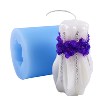 3D Silicone Candle Mold Vase Shape Handmade Soap Resin Clay Craft Mould