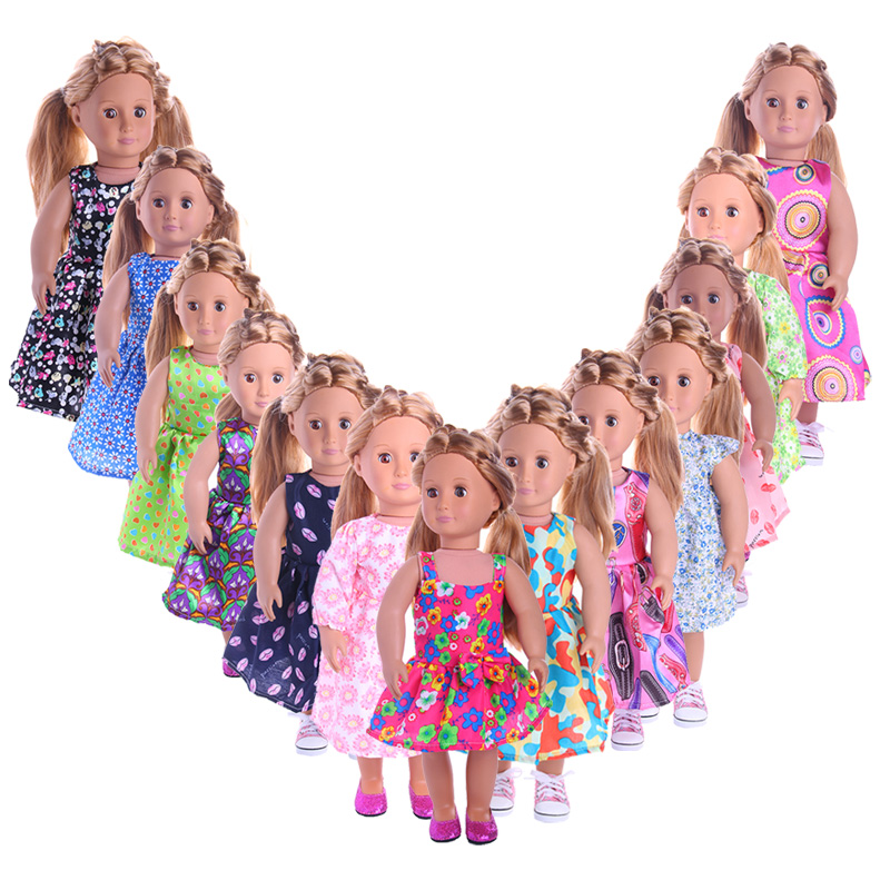 Fleta Cute 13 Different Style Dress fit 18 inch American Doll or 43cm Baby Doll the Best Gift Toy Accessories