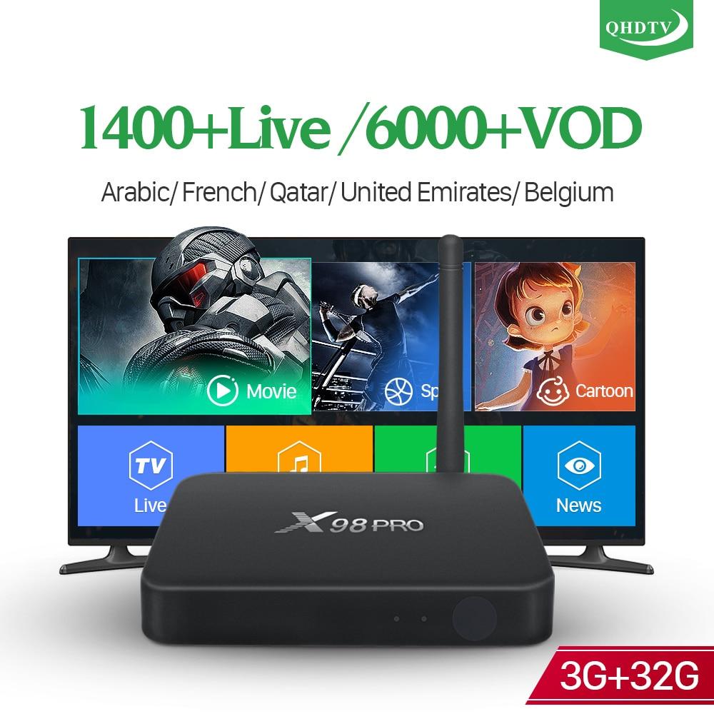 X98 PRO France IPTV Box Android 6.0 4K 3GB 32GB HD WiFi QHDTV Code 1 Year French Belgium Morocco Arabic Netherlands IPTV Box x98 pro france iptv box 3gb 32gb android s912 octa core 4k 1 year iptv france arabic belgium turkey portugal ip tv