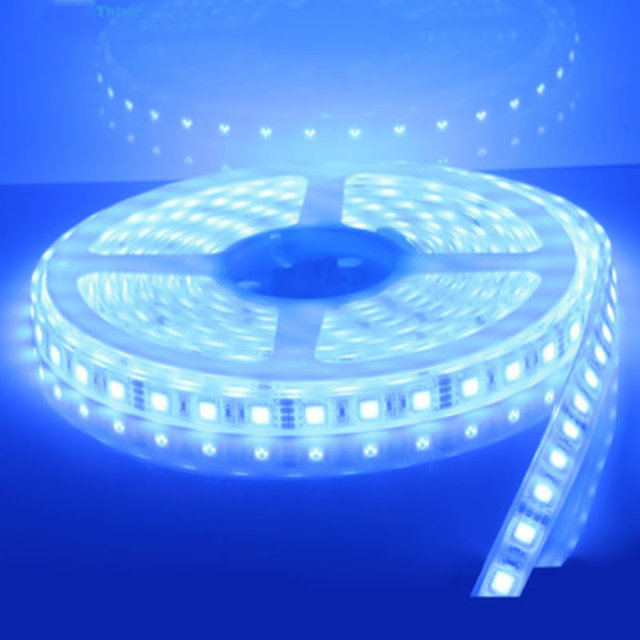 1x New 16 4 Ft Marine Boat Blue Warm White Ip68 Waterproof Led Strip Lights 60led