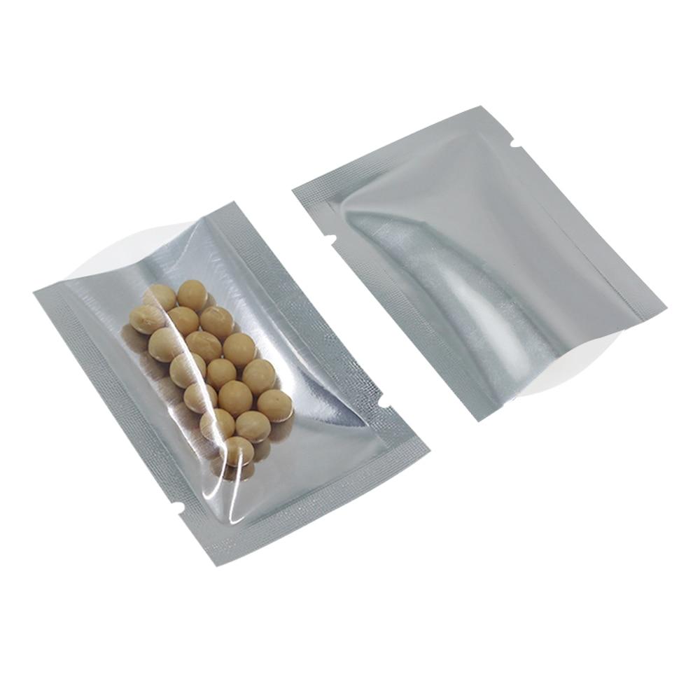 5 * 7 cm 200 Unids / lote Bolsa de Aluminio Claro Bolsa Abrir - Organización y almacenamiento en la casa