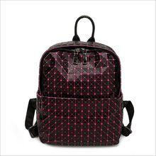 С логотипом Силикагель BaoBao рюкзак женской Моды Девушка Ежедневно рюкзак Геометрия Пакет Блестки Складные Сумки школьные сумки