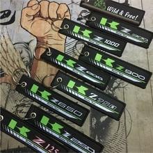 Брелок для ключей с вышивкой для мотоцикла, брелок для ключей для Kawasaki z125 z250 z300 z650 z750 z800 z900 z1000Badge