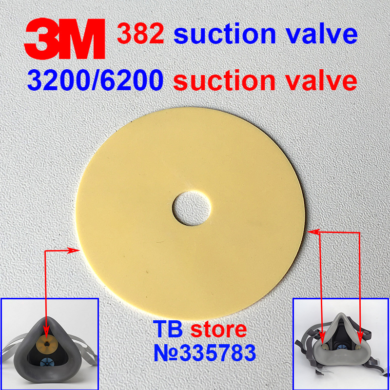 3M 382 6893 Suction Gasket 3200/6200/6800/1211 Gas Mask Replacement Gasket Yellow Circular Respiratory Mask Valve
