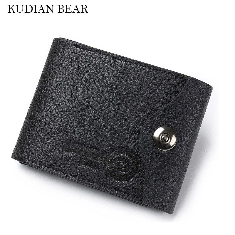 KUDIAN BEAR Minimalist Men Wallet Leather Men Purse Credit Card Holder Coin Pocket Short Carteira Masculina--BID028 PM49 платье boutique moschino boutique moschino bo036ewywf30