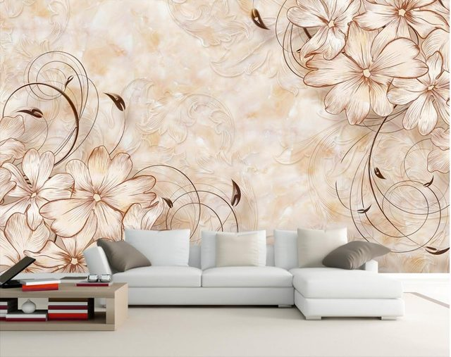 Attrayant Wallpaper 3d Flower Marble Flower Wallpaper Home Decor Wallpaper Bathroom  Photo Wall Murals Wallpaper