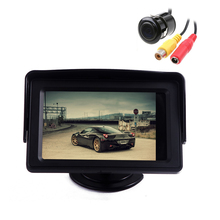 Classic 4.3″ TFT LCD Rearview Car Parking Monitors for DVD GPS Reverse Backup Camera Vehicle accessories Free Car Rear Camera
