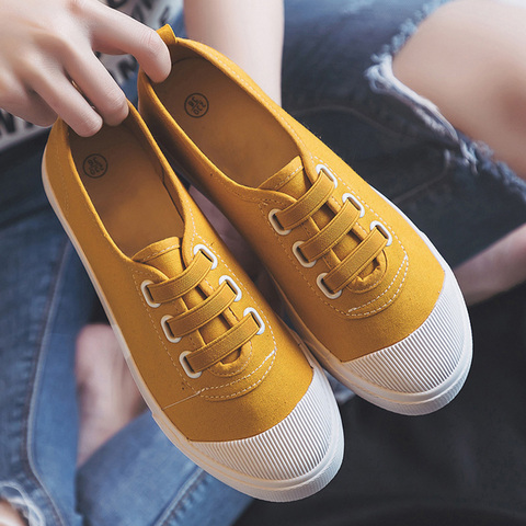 Women Casual Shoes 2019 Spring summer outdoor Sneakers Women Canvas shoes Girl shoes Flats classic white student shoes Multan