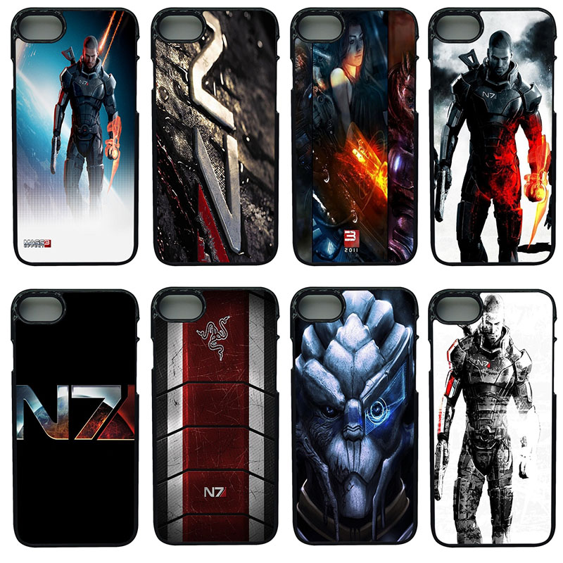 N7 Mass Effect 3 Cell Phone Cases Hard Plastic Shell Phone Cover for iphone 8 7 6 6S PLUS X 5S 5C 5 SE iPod Touch 4 5 6 Case