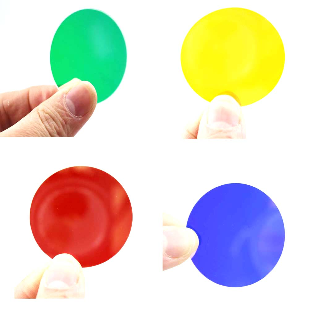Green/Yellow/Red/Blue Color 41.5x2.0mm Optics Coated Glass Lens For C8/C12 Flashlight (4pcs/lot)