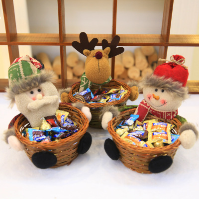 Christmas Candy Storage Basket Decoration Santa Claus Storage Basket Gift christmas decorations for home-in Pendant & Drop Ornaments from Home & Garden on Aliexpress.com | Alibaba Group