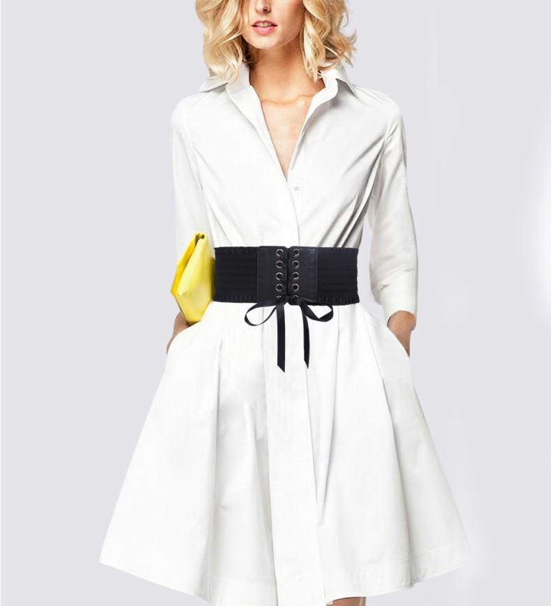 Moda Punk Rock cinturones anchos para mujeres HOT Elastic cummerbunds negro  lujo estilo europeo mujer cinturón hebilla de Metal abrigo decorarUSD  9.00 piece c34c88d9850d
