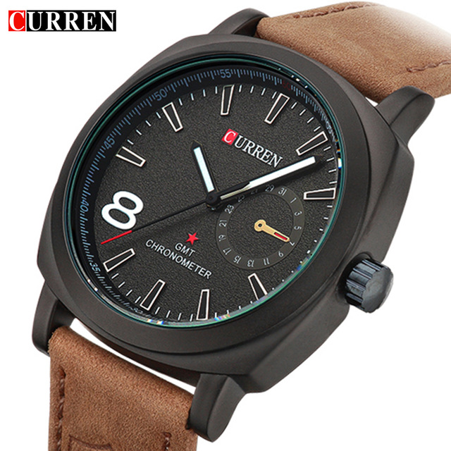 CURREN Luxury Top Brand Watch Men Quartz Luminous Watch Fashion Sport Leather Strap Wristwatches Relogio Masculino Date 8139 2016 men quartz watch skmei top brand luxury fashion casual watch date male genuine leather sport wristwatches relogio masculino