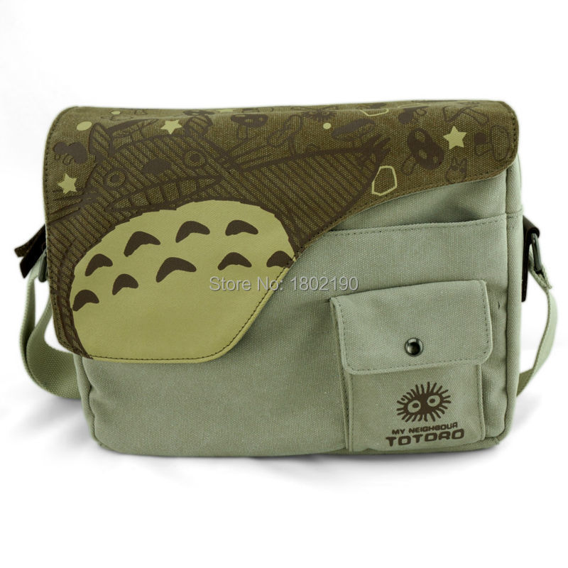 Totoro Messenger Bags Cartoon Japan Anime Handbags My Neighbor TOTORO  Shoulder Bags Canvas Schoolbag Casual Solid