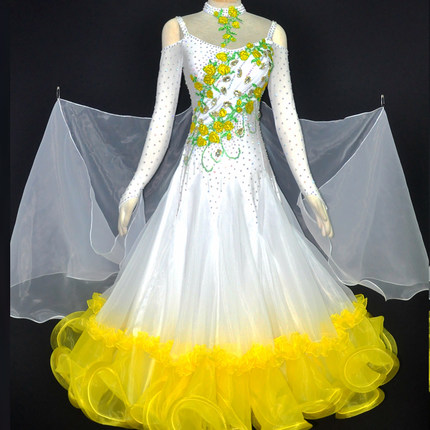 Standard Ballroom Dresses Women Custom Made Waltz Tango Modern Dancing Costume Ladys Ballroom Competition Dance Dress