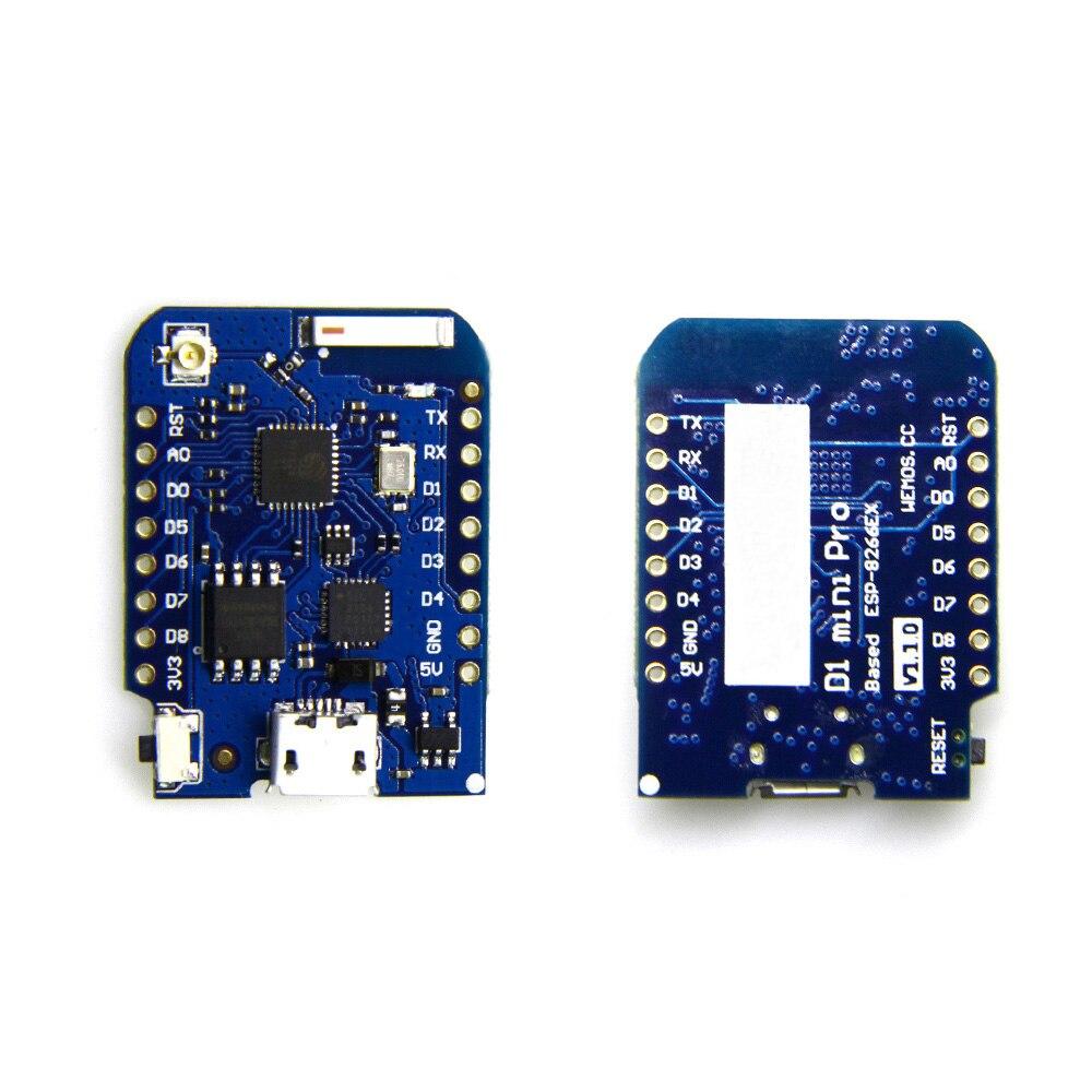 D1 mini Pro V1.1.0-16 M octets externe antenne connecteur ESP8266 WIFI Internet de Choses conseil de développement + antenne