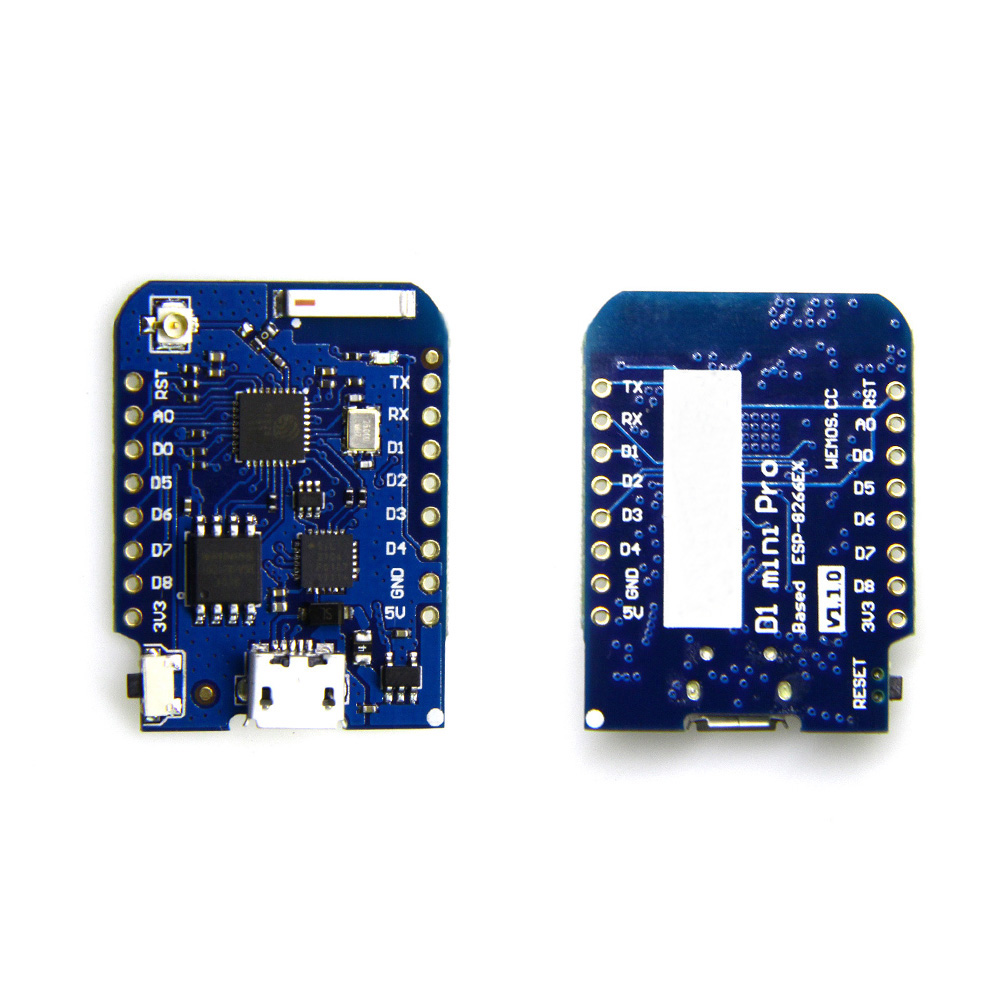 WEMOS D1 mini Pro V1.1.0 - 16M bytes external antenna connector ESP8266 WIFI Internet of Things development board+antenna lua wifi nodemcu internet of things development board based on cp2102 esp8266