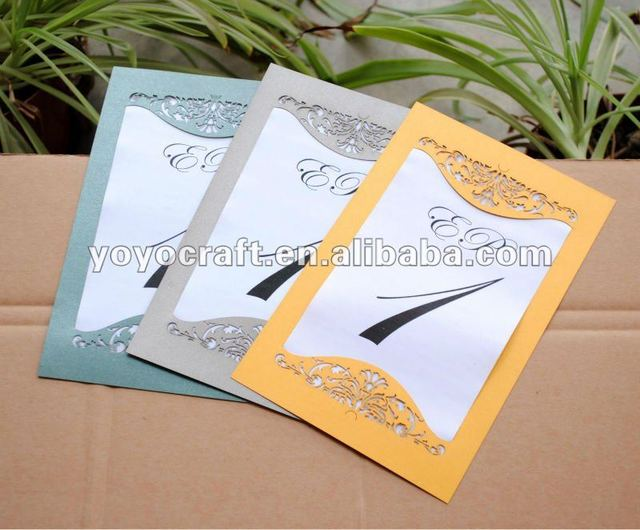Luxurious Invitation Card Design Handmade Laser Cut Wedding