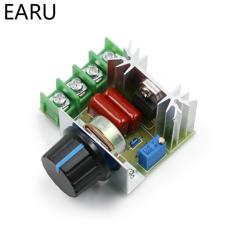 Regulador de voltaje oscurecimiento AC 220V 2000W SCR, controlador de velocidad del Motor, termostato, módulo regulador de voltaje electrónico