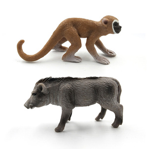 Image 5 - Simulation forest wild plastic animals figure model Alpaca Warthog Chimpanzee sheep Deer Fox Antelope Monkey Gibbon figurine toy