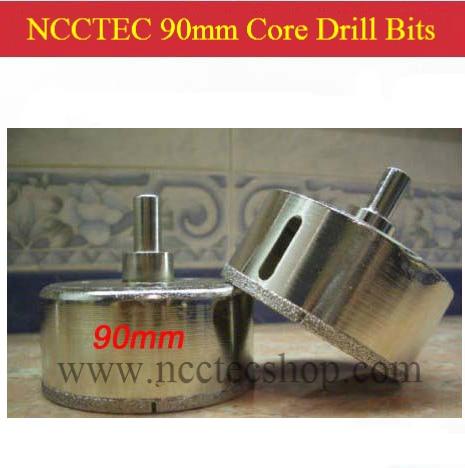 90mm*65mm NCCTEC Diamond Core Drill Bits FREE shipping | 3.6'' marble Ceramic tile glass brick wall core bits  цены