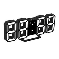 Large Size LED Display Digital Clock Modern Design Home Office Electronic Desk Clock Wall Clock 2 Colors
