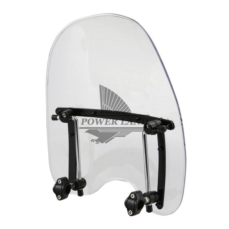 New Clear Color Windshield Windscreen Fairing For Harley Electra Dyna Glide Softail Suzuki Yamaha Kawasaki Cruisers1970-2012 gt motor free shipping motorbike windshield deflector windscreen mounting screws for kawasaki er 6n er6n 2012 2016