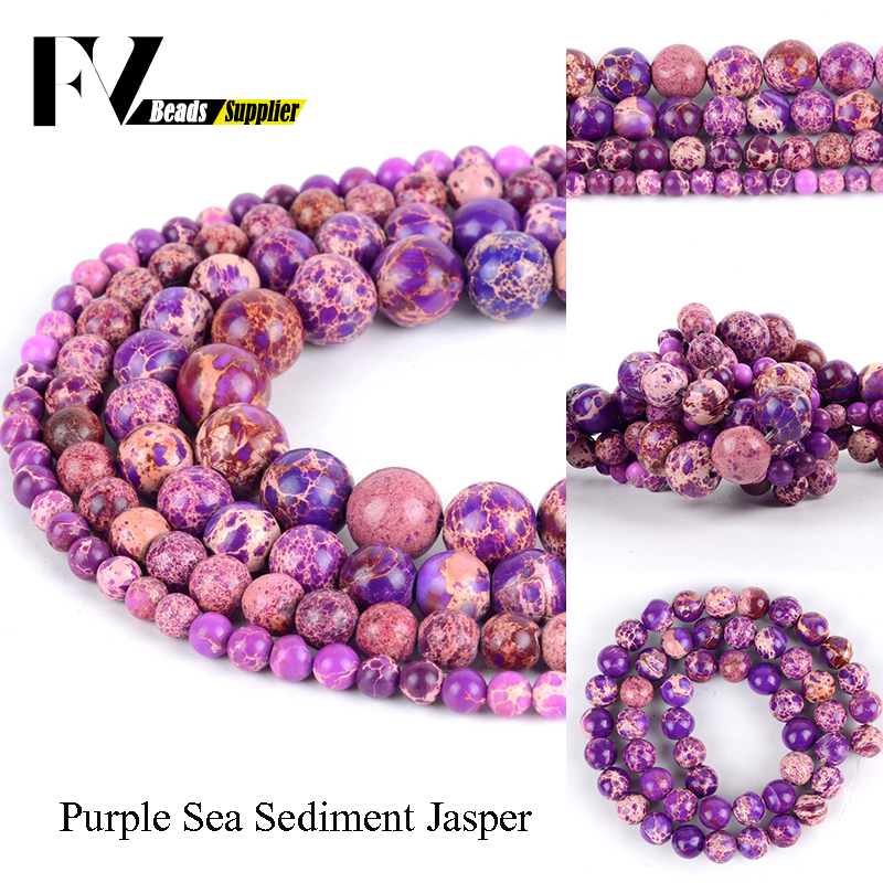 Natural Purple Imperial Jasper Stone Gemstone Round Loose Beads 4mm 6mm 8mm 10mm
