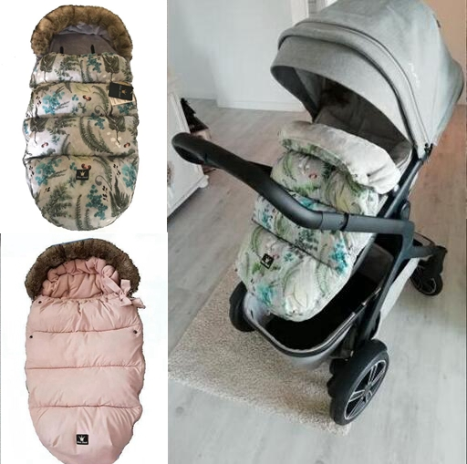 Baby Pushchair Footmuff Warm Toe Cover Winter Windproof Warmth Sleeping Bag Windproof Warm Thermal Lining Baby Socks 2019 New Fashion Style Online Strollers Accessories