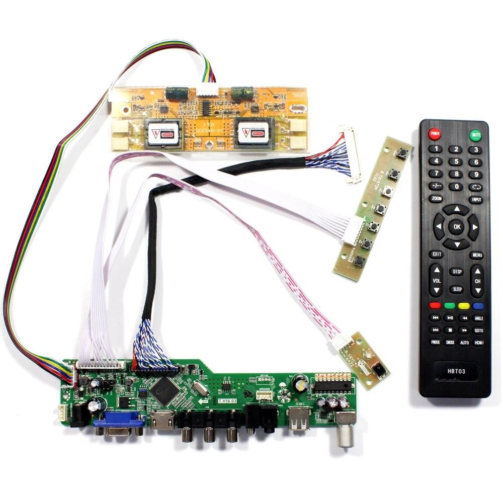 TV HDMI VGA AV USB AUDIO LCD Controller Board For 20.1 22 M201EW02 V1 M201EW02 V8 M201EW02 V9 M220EW01 1680x1050 LCD Screen youtoing yt box4x4 lcd video wall controller hdmi vga av usb processor 4x4 nine images stitching image processor 16tv 1080p