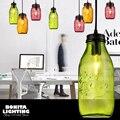 Тисненый желанный горшок  прозрачные стеклянные бутылки  шнур  подвесной светильник  конфетная банка  подвесное освещение  Современная пла...