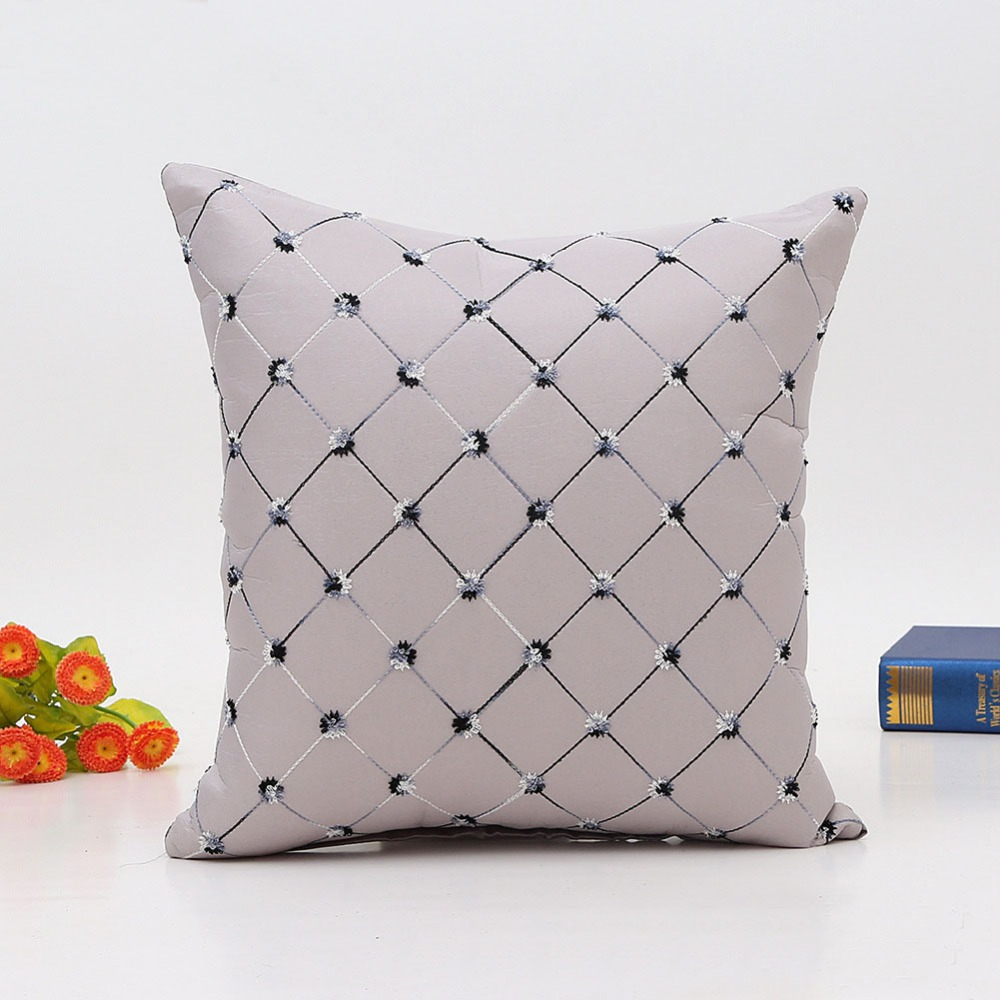 Meijuner Imitation Diamond Pattern Pillow Cover Modern Fashion Simple Cushion Cover For Home Wedding Bedroom Sofa 45X45cm