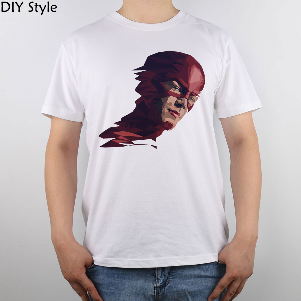 Shirt design china - The Flash Barry Allen Lowpoly Portrait T Shirt Top Pure Cotton Men T Shirt New