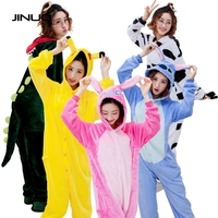Kigurumi Sheep Owl Panda Unicorn Unisex Flannel Hoodie Pajamas For Adults Women Men Costume Cosplay Animal