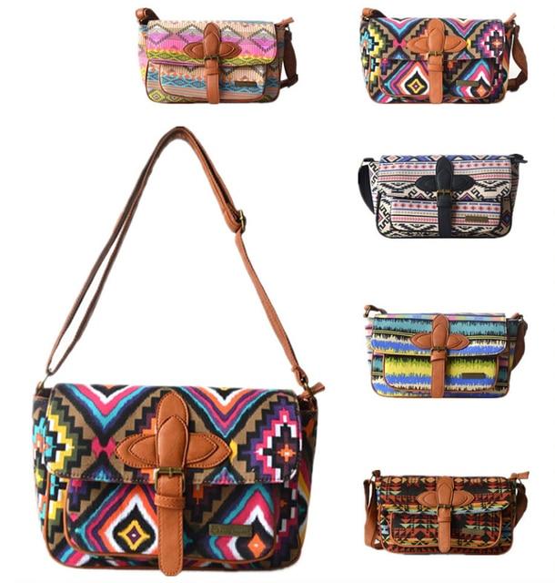 100% nova bolsa de ombro ocasional diagonal messager-bag pano saco de sacos de jeans feminino bordado sacos de lona + PU Patchwork bolsa