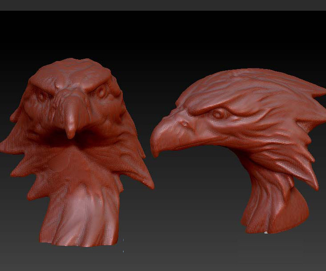 eagle head 3D model relief for cnc router carving engraving in STL ...
