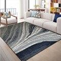 AOVOLL ковры для гостиной Европейский абстрактный синий серый полосатый узор ковер детская комната Гостиная Коврик пол