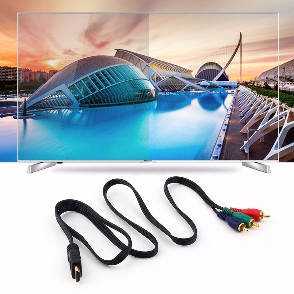 New Mini HDMI To 3RCA Video Component Connection Cable Convert Hub Cord Line Wholesale For Hdmito3 Gold Connector